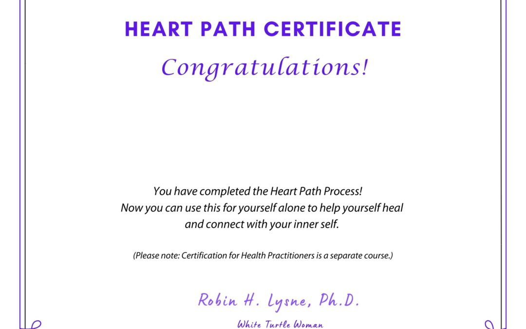 Heart Path Certificate for Self